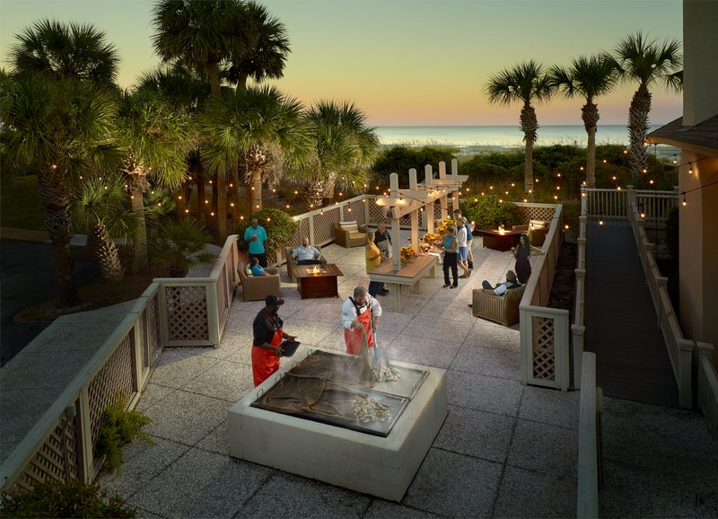 Omni Hilton Head Oceanfront Resort-Oyster Pit Sunset<br/>Image from Leonardo