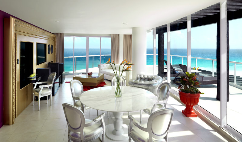 Hard Rock Cancun - HRHCancun Rock Star Suite Living Room <br/>Image from Leonardo