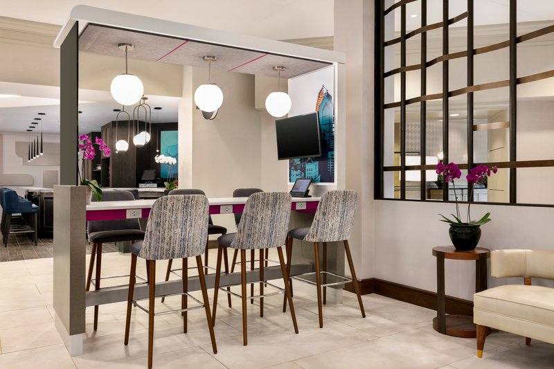 Crowne Plaza Philadelphia - King of Prussia-Our lobby offers table top charging stations<br/>Image from Leonardo