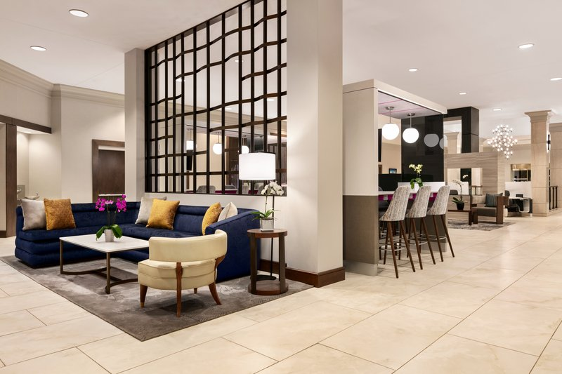 Crowne Plaza Philadelphia - King of Prussia-Our lobby lounge is a comfortable spot to converse over a cocktail<br/>Image from Leonardo