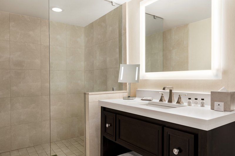 Crowne Plaza Philadelphia - King of Prussia-Our King Bedroom Suite bathroom is spacious and well light.<br/>Image from Leonardo