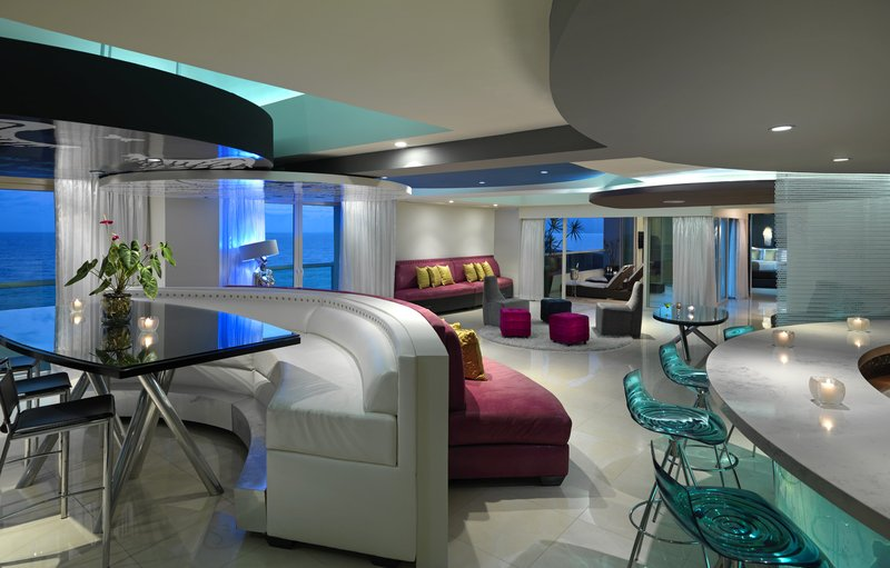 Hard Rock Hotel Vallarta-HRHVRock Star Suite Living Area<br/>Image from Leonardo