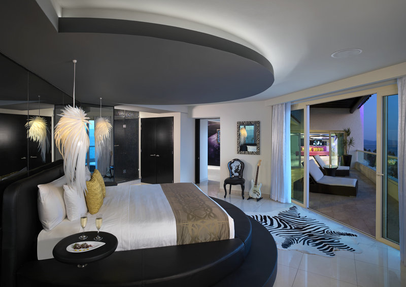 Hard Rock Hotel Vallarta-HRHVRock Star Suite Bedroom<br/>Image from Leonardo