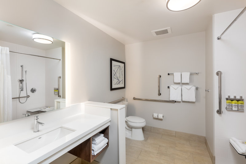 Holiday Inn Express And Suites Moreno Valley Riverside-Guest Bathroom with Roll-In Shower<br/>Image from Leonardo