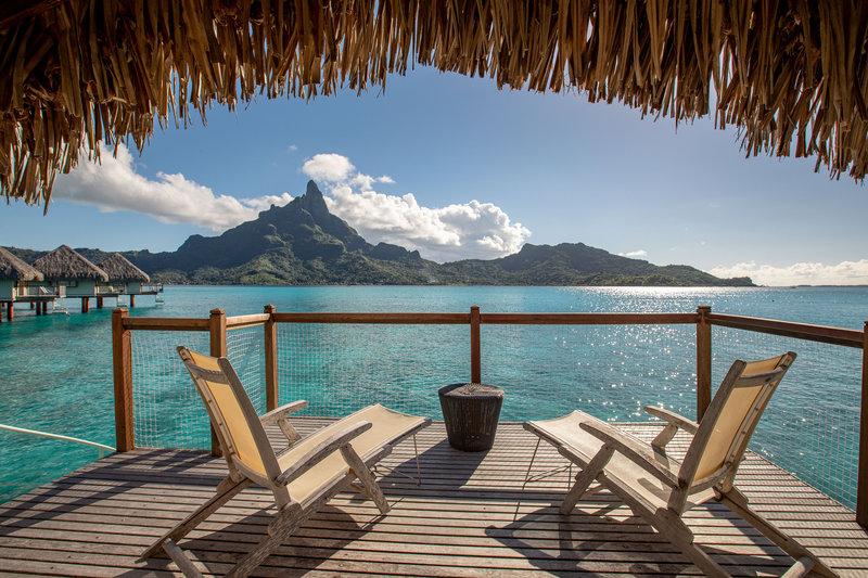 Le Meridien Bora Bora - Overwater Lagoon Bungalow Terrace <br/>Image from Leonardo