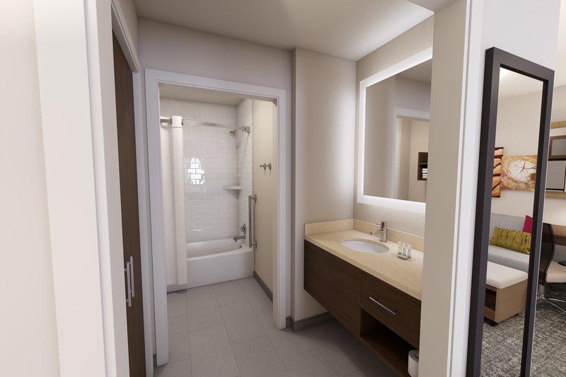 Staybridge Suites Vero Beach-Bathrooms with Plenty of Storage<br/>Image from Leonardo