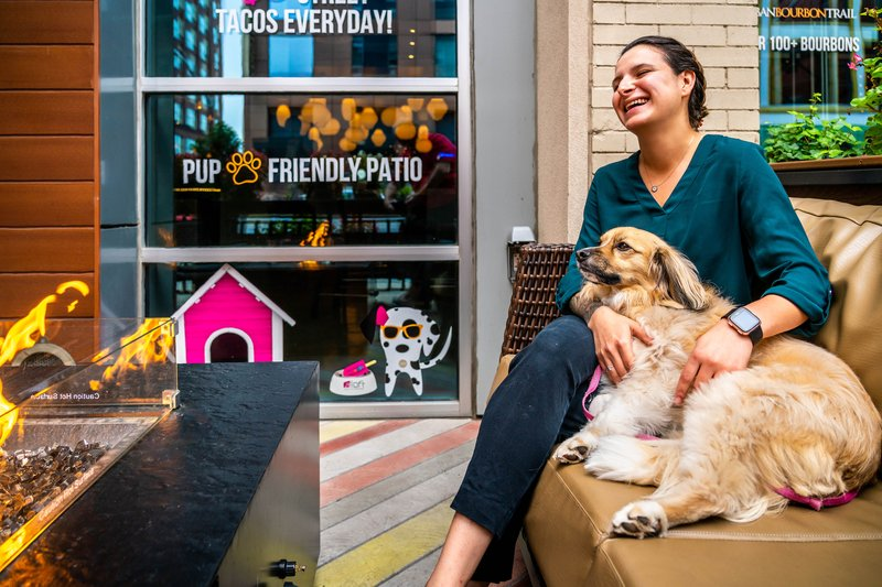 Aloft Louisville Downtown-Pup-Friendly Patio<br/>Image from Leonardo