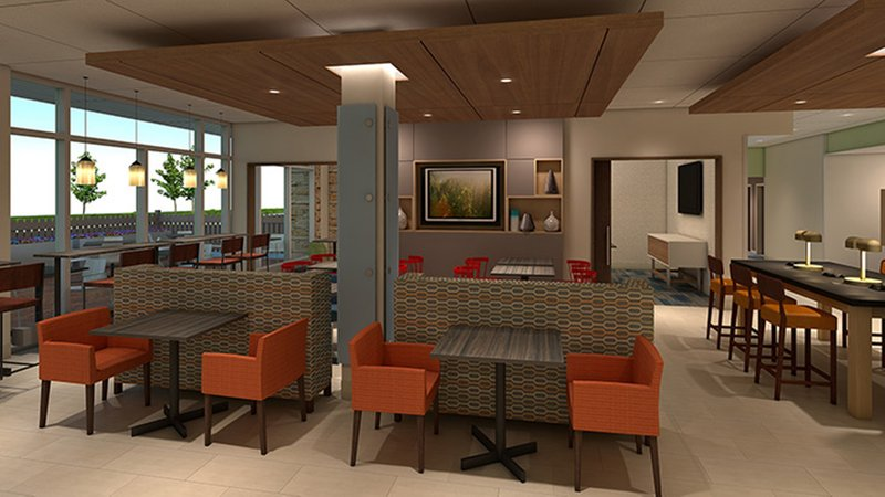 Holiday Inn Express & Suites Grand Rapids Airport - South-Breakfast Area<br/>Image from Leonardo