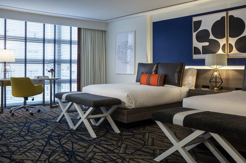 Kimpton Hotel Palomar DC - Queen Queen Bedroom <br/>Image from Leonardo