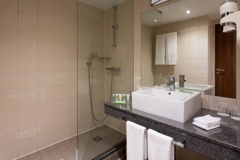 Courtyard Toulouse Airport-Guest Bathroom - Walk-In Shower<br/>Image from Leonardo