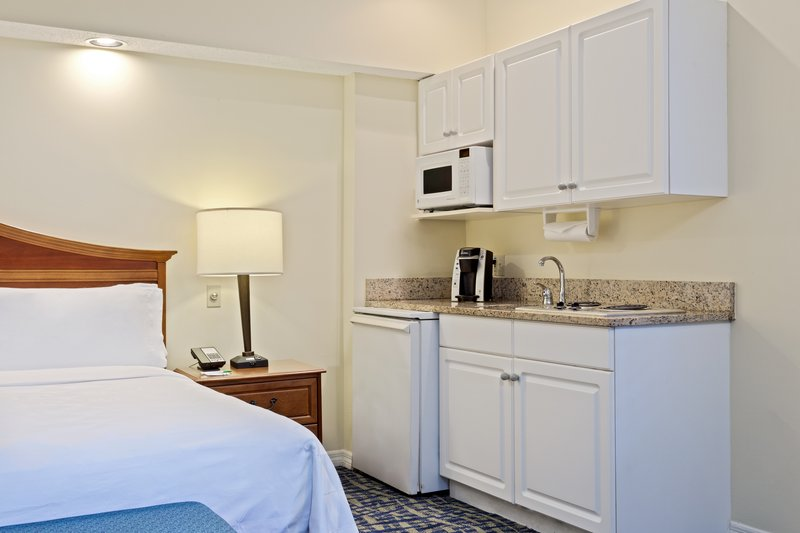 Holiday Inn & Suites Clearwater Beach S Harbour-King Studio has a mini-fridge, microwave, & dual stove burners.<br/>Image from Leonardo