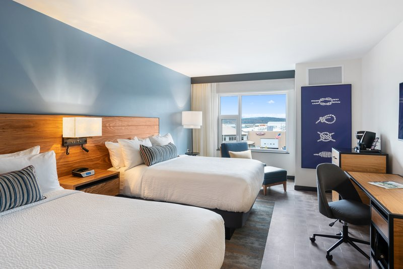 Hotel Indigo Seattle Everett Waterfront-Two Queens Guestroom<br/>Image from Leonardo