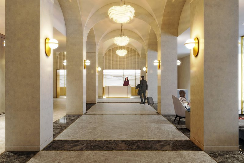 Montreal Marriott Chateau Champlain-New Lobby - Coming Late 2020<br/>Image from Leonardo