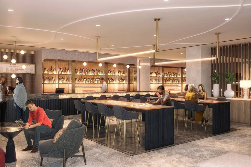 Montreal Marriott Chateau Champlain-New Bar - Coming late 2020<br/>Image from Leonardo