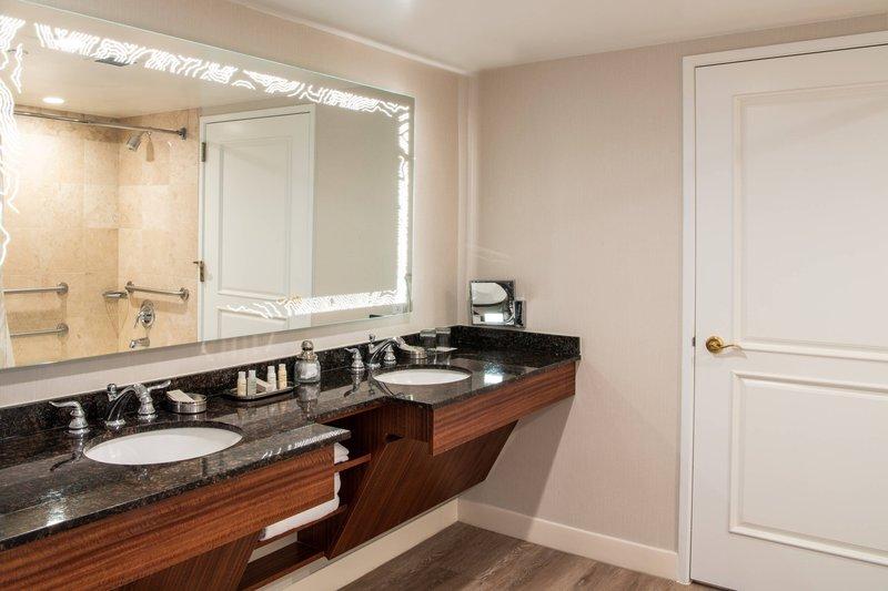 Renaissance Newport Beach Hotel-Accessible Suite Bathroom<br/>Image from Leonardo