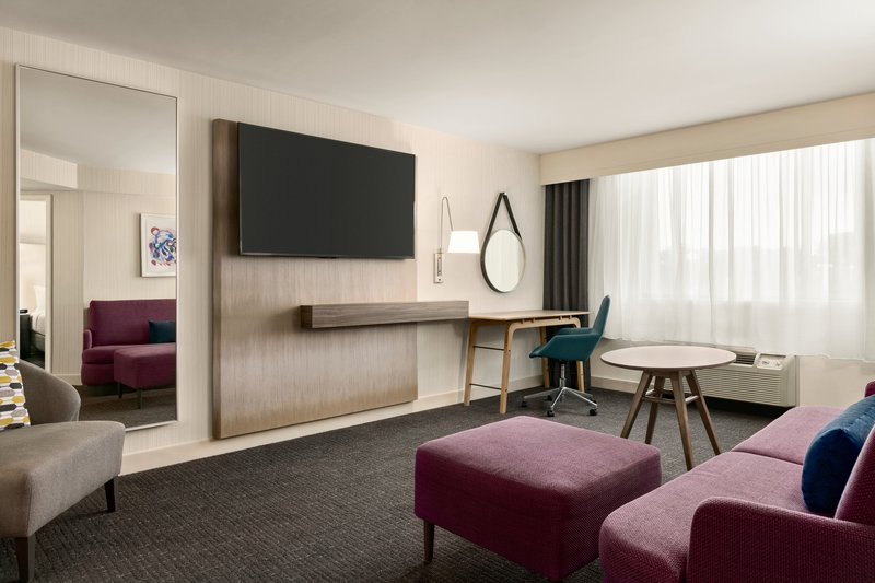 Crowne Plaza Philadelphia - King of Prussia-Relax in our King Suite living area featuring a flat screen TV.<br/>Image from Leonardo