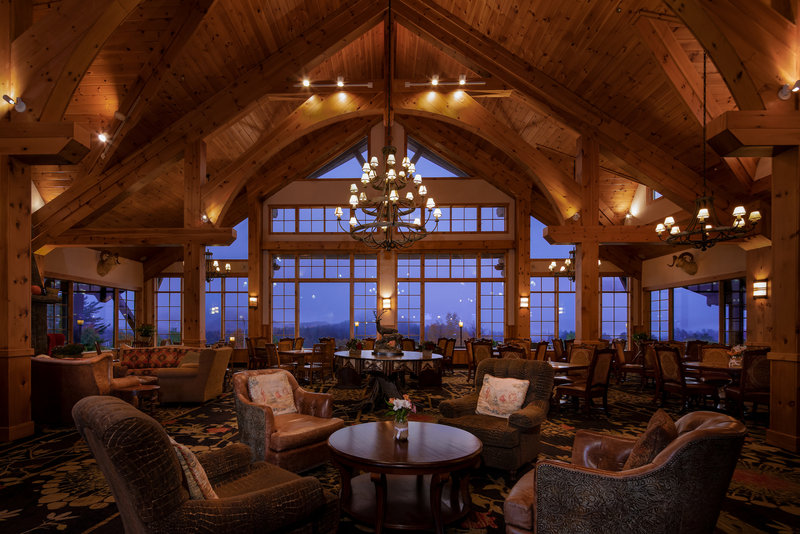 Crowne Plaza Lake Placid-Stop in for a meal or the chance to just relax in our Great Room<br/>Image from Leonardo