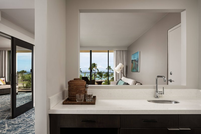 Waikoloa Beach Marriott - Ocean View One Bedroom Suite - Wet Bar <br/>Image from Leonardo