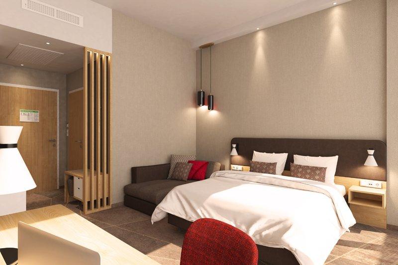 Holiday Inn Mannheim City Hauptbahnhof-Guest Room King Bed<br/>Image from Leonardo