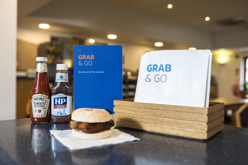 Holiday Inn Express Stafford M6 Jct 13-In a rush? fuel up with a bap & coffee for the road<br/>Image from Leonardo