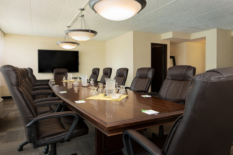 Holiday Inn Hotel & Suites Charleston West-Well-equipped board room features wall monitor and seating for 12!<br/>Image from Leonardo