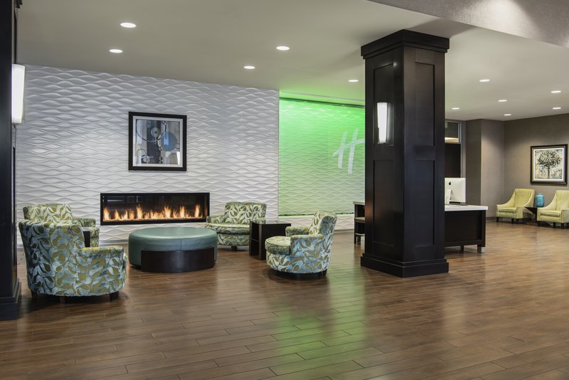 Holiday Inn Saskatoon Downtown-Lobby with fireplace, oversized seating and business centre<br/>Image from Leonardo
