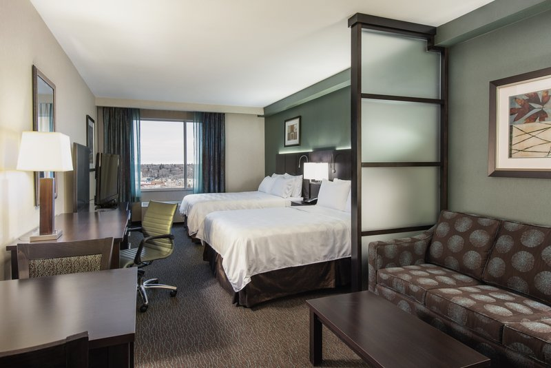 Holiday Inn Saskatoon Downtown-Superior 2 Queen bed room with sleeper sofa. Sleeps up to 6 guests<br/>Image from Leonardo