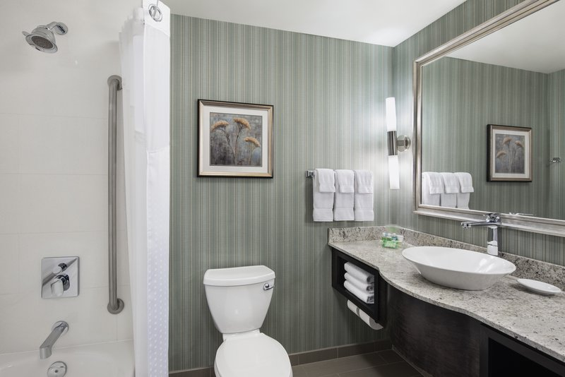 Holiday Inn Saskatoon Downtown-Guest bathroom with shower & tub combo<br/>Image from Leonardo