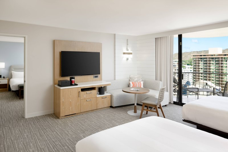 Waikiki Beach Marriott Resort  - Double/Double Premium Guest Room - Ocean View <br/>Image from Leonardo
