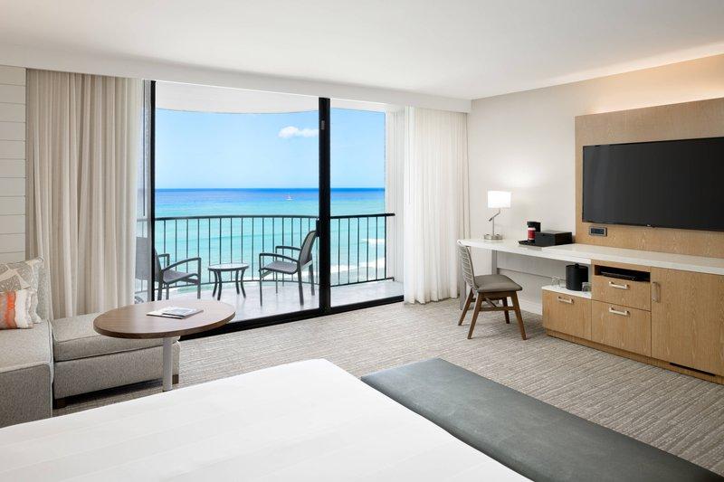 Waikiki Beach Marriott Resort  - King Guest Room - Ocean Front <br/>Image from Leonardo