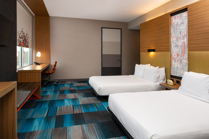 Aloft Lexington-Queen/Queen Guest Room<br/>Image from Leonardo