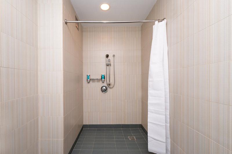 Aloft Lexington-Accessible Bathroom - Roll-In Shower<br/>Image from Leonardo