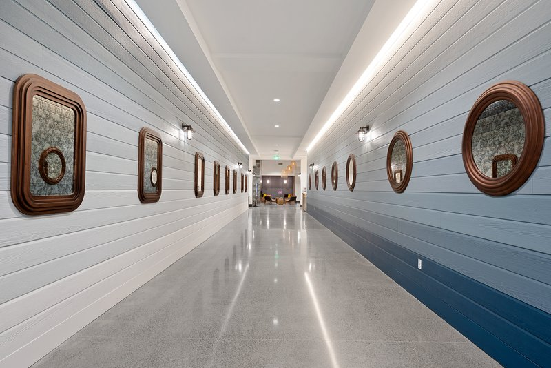 Hotel Indigo Seattle Everett Waterfront-Hallway to Lobby<br/>Image from Leonardo