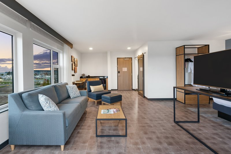 Hotel Indigo Seattle Everett Waterfront-Comfortable and spacious seating area in the suites<br/>Image from Leonardo