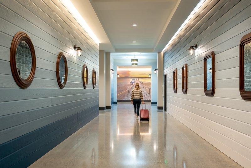 Hotel Indigo Seattle Everett Waterfront-Hallway to Lobby<br/>Image from Leonardo