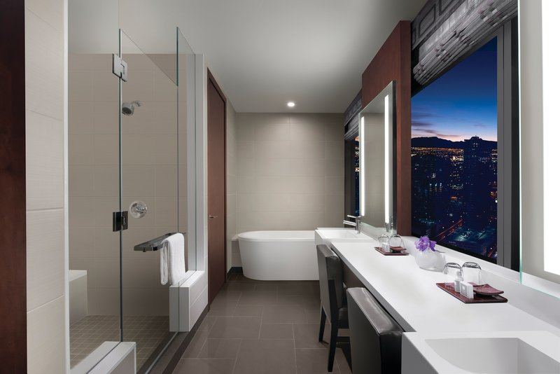 Vdara Hotel & Spa at Aria Las Vegas - One Bedroom Penthouse Bathroom <br/>Image from Leonardo