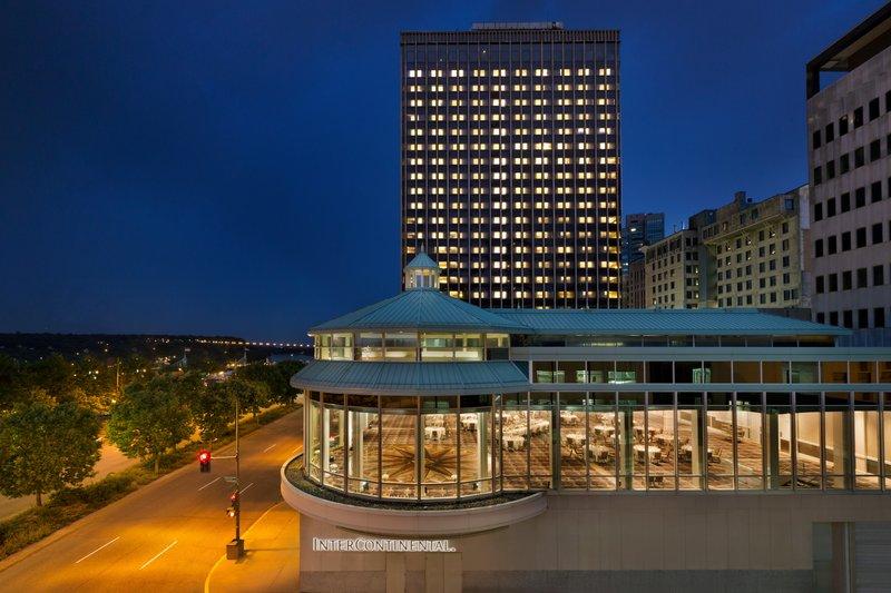 InterContinental Saint Paul Riverfront-Exterior of Hotel at Dusk<br/>Image from Leonardo