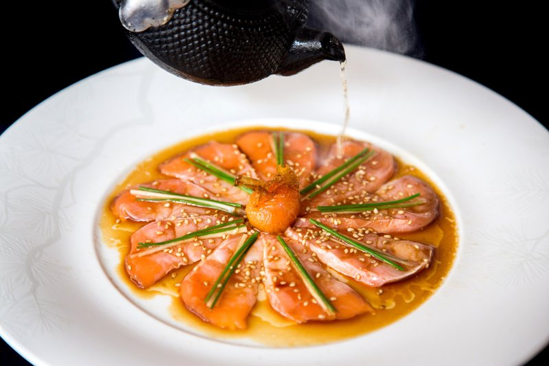 Nobu Hotel Miami Beach - Salmon Sashimi New Style Henry Hargreaves <br/>Image from Leonardo