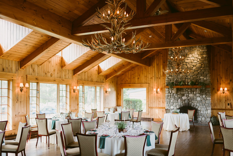 Crowne Plaza Lake Placid-Rustic elegance with wood beamed ceilings and antler chandeliers<br/>Image from Leonardo