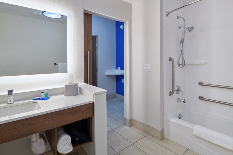 Holiday Inn Express El Paso - Sunland Park Area-Guest Bathroom<br/>Image from Leonardo