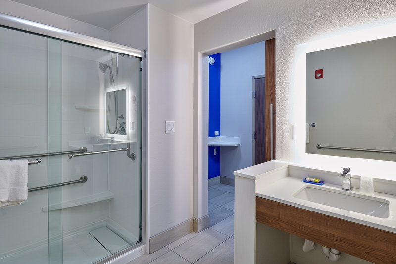 Holiday Inn Express El Paso - Sunland Park Area-Spacious Guest Bathroom Holiday Inn Express & Suites. <br/>Image from Leonardo
