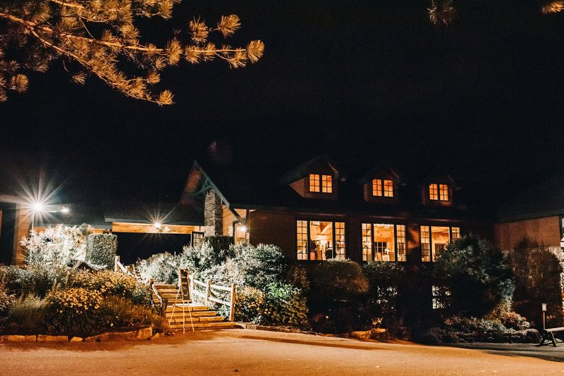 Crowne Plaza Lake Placid-The Lake Placid Club at night<br/>Image from Leonardo