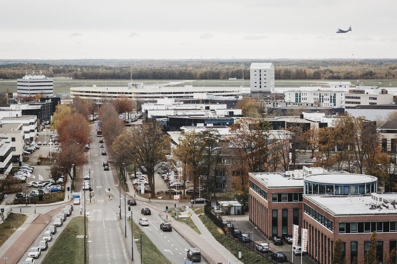Holiday Inn Eindhoven Airport-View towards Eindhoven Airport<br/>Image from Leonardo