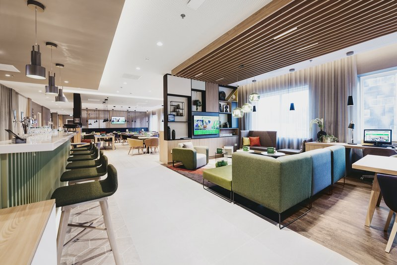 Holiday Inn Eindhoven Airport-View into the bar and media lounge are of The Galley<br/>Image from Leonardo