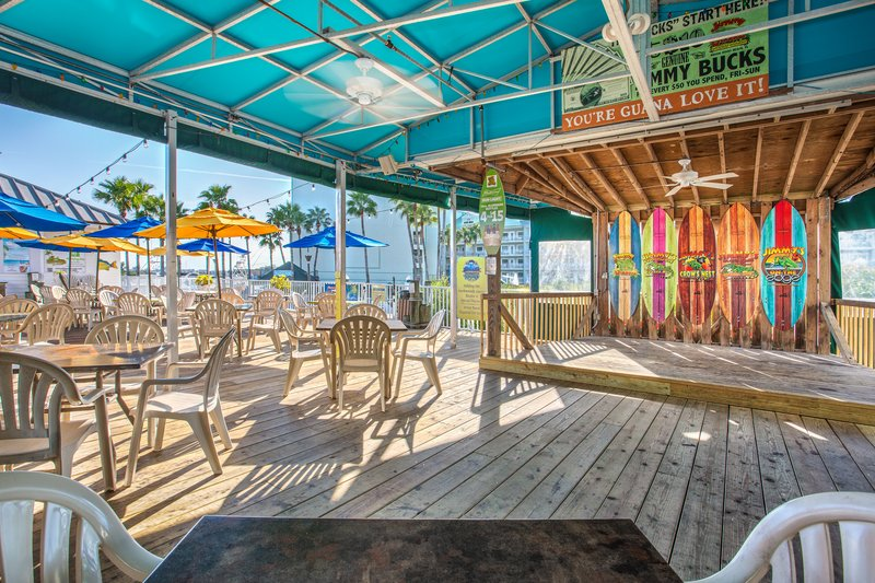 Holiday Inn & Suites Clearwater Beach S Harbour-Be sure to check out the nightly live entertainment on the deck. <br/>Image from Leonardo