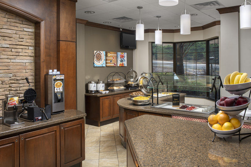 Staybridge Suites Columbia-Full hot buffet breakfast at Columbia's extended stay hotel<br/>Image from Leonardo