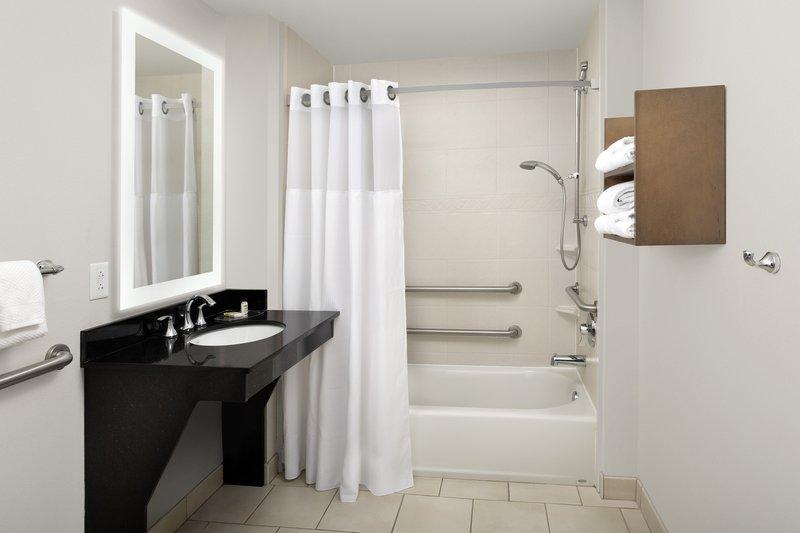 Staybridge Suites Columbia-ADA shower/tub feature at the Staybridge Suites Columbia <br/>Image from Leonardo