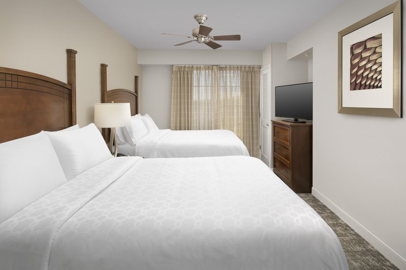 Staybridge Suites Columbia-One bedroom suite with two Queen beds, perfect for families.<br/>Image from Leonardo