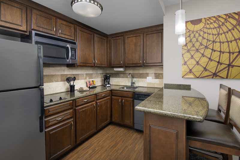 Staybridge Suites Columbia-Full kitchen and dining area includes cookware in all suites<br/>Image from Leonardo