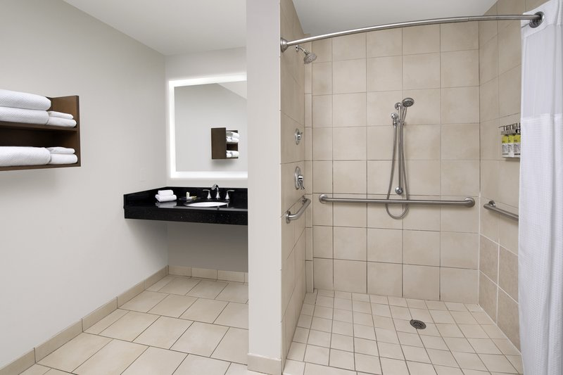 Staybridge Suites Columbia-Roll in shower provided in our 2 bedroom ADA suite<br/>Image from Leonardo